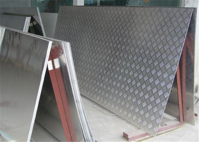 5052 Five bars Aluminum Checker Plate embossed aluminum sheet for anti-slip floor